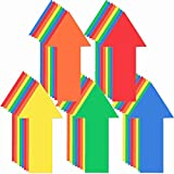 40 Pieces 8 Inch Arrow Sticker, Directional Arrow Sign Removable Adhesive Arrow Floor Decal Multicolor Waterproof Arrow Marking Arrows Safe Road Instructions Sticker for Floor Wall Applications