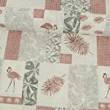 Dekostoff Flamingos dunkel altrosa Canvas - Preis gilt für