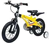 R for Rabbit Tiny Toes Jazz Smart Plug n Play Kids Bicycle for 3 to 5 Years Boys & Girls Size 14T inches with Magnessium Alloy Adjustible Structure & Disc Brakes | Yellow