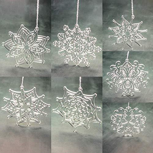 Acrylic Christmas Ornaments and Snowflakes Keepsake Cake Topper Decoration