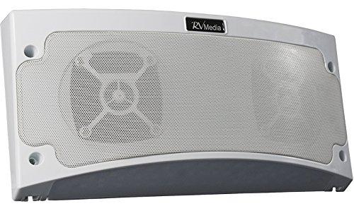 KING Controls RVM2000 RV Premium Media Bluetooth Weatherproof Speaker & Awning Light with App Control - White