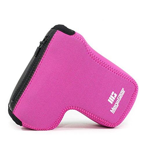 MegaGear MG1502 Sony Alpha A6400, A6500 (18-135mm) Ultra Light Neoprene Camera Case - Hot Pink