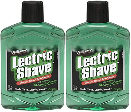 Williams Lectric Shave Electric Razor Pre-Shave with Soothing Green...