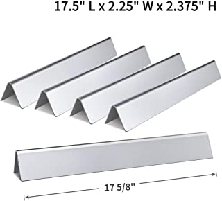 SHINESTAR 7620-17.5 inch Grill Parts Replacement for Weber Genesis 310 e310 330 Flavorizer Bars (w/Front Control Panel) Pack of 5 Stainless Steel Flavor Bars