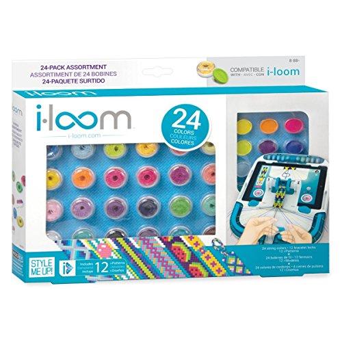 Style Me Up - Stickgarn-set in 24 verschiedene Farben für Iloom - Basteln Mädchen - Geschenke für Mädchen - SMU-8082