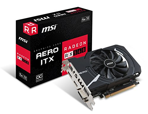 MSI Radeon RX 560 AERO ITX 4G OC 4GB AMD GDDR5 1x HDMI, 1x DP, 1x DL-DVI-D, 2 Slot Mini PC, Afterburner OC, AMD FreeSync, Grafikkarte