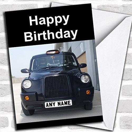 Taxi Black Cab Aangepaste verjaardagswenskaart- Verjaardagskaarten/Vliegtuigen, Treinen & Automobiles Kaarten