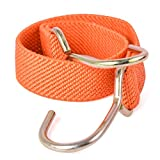 Marcobrothers Flat Bungee Cord,2 Strips (24 inches, Orange)
