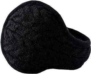 Chinashow Unisex Winter Warm Rear Wear Knitted Folding Earmuffs Ear Warmers,Black