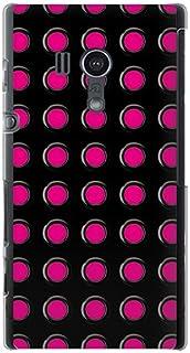 CaseMarket 【ポリカ型】 au Xperia acro HD IS12S ポリカーボネート素材 ハードケース [ ブラック グロメット & ピンク ]