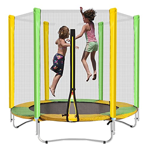 STULANBO 60' Trampoline for Kids 5FT High Indoor Outdoor Toddler Trampoline with Safety Enclosure Net, Birthday Gifts for Kids, Gifts for Boy and Girl, Baby Toddler Trampoline Toys, Age 1-8