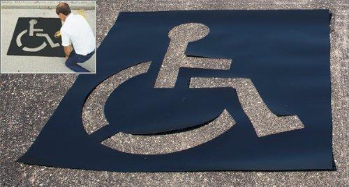 Medium Size, Light Duty Parking Lot Handicap Stencil
