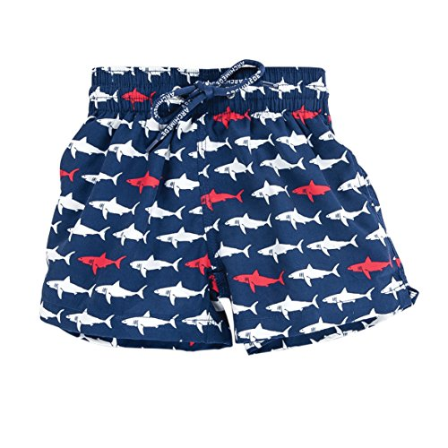 Archimède Jungen Badehose Sharky Boxer Blau (Marine) 18-24 Monate (Herstellergröße: 24 Mois (Taille Fabricant 2 ans)