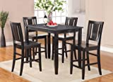 5 Pc Counter height Table set-high Table and 4 Stools