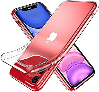 Crystal Clear iPhone11 Case, ORANGA Thin Slim Soft Silicone TPU Cover Case for iPhone 11 Pro 6.1 inch (2019), Crystal Clear