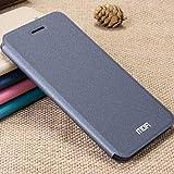 RONGCHAO Tasche für Mobiltelefon MOFI für Smartisan T2 Crazy Horse Texture Horizontal Flip Leder Tasche mit Halter (Dunkelblau) Shell Cover (Farbe : Grey)