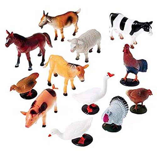 US Toy Company 2386 Farm Animals  12 piece