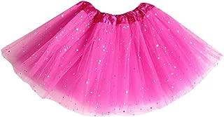 Riou-Damenrock Riou Mädchen Tüllrock Pailletten Prinzessin Tutu Tanz Rock Ballettrock Petticoat Unterrock für Kinder Baby Festlich Karneval Fasching Kostüm