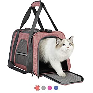 HiCaptain Soft Cat Carrier with Top Mesh Window – Pet Carrier Breathable for Medium Cats and Small Dogs Puppies up to 13 lb (Baby Pink)