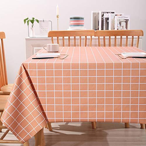 WHDJ Nappes en PVC, Nappe à Carreaux de Style Ferme, lingette imperméable à l'huile, Anti-brûlure, Couverture de Table sans décoloration