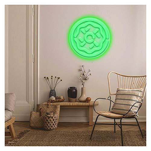 LED Neon Pizza Logo Neon Signs Signo de pared Arte personalizado Iluminación Decoración de la pared para el hogar Casa de la casa Fondo de la fiesta Luces Neón ( Color : Green , Size : 40.9X36cm )