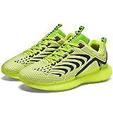 Aerlan Comfortable Sports Shoes,Zapatillas para Correr con Acolchado de Aire,Verano Transpirable Luminoso Casual Moda Hombre Zapatillas-Green_42#