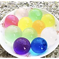 50 Large Orbeez Magic Water Beads UK Seller Jumbo Ball, Crystal, Multi, 12mm