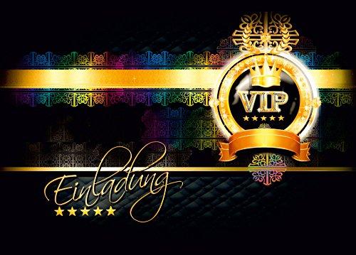 Deko-Schulze Einladungskarten VIP - Postkarten Einladung zur VIP Party - VIP Geburtstag Erwachsene / Jugendliche - Einladungskarten ausgefallen (10 Stück)