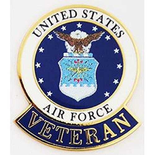 United States Air Force Veteran Logo Emblem Lapel/hat Pin - Premium Quality - 1