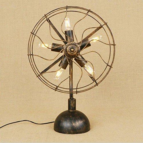 Tafellamp, antieke stijl, bureaulamp, designerlamp, decoratief licht, retro, kleine nacht, licht, studeerkamer, slaapkamer, kantoor, industriële, grote ventilator, lange tafellamp, decoratief