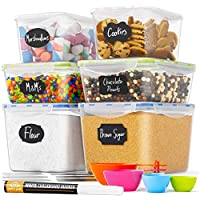 6-Piece BPA-Free Food Storage Containers with Spoons, 8 Labels & Pen Chef's Path