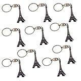 Cosanter 10 Stück Schlüsselanhänger mit Eiffelturm, Souvenir de France Paris Eiffelturm aus Metall Geschenk