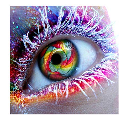 DIY 5D Diamond Painting by Number Kits,Full Crystal Rhinestone Diamond Embroidery Paintings Arts Wall Decor Eye 11.8x11.8in 1 Pack by LANSUER
