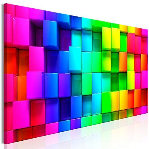decomonkey Bilder Quadrat 150x50 cm 1 Teilig Leinwandbilder Bild auf Leinwand Wandbild Kunstdruck Wanddeko Wand Wohnzimmer Wanddekoration Deko Abstrakt bunt