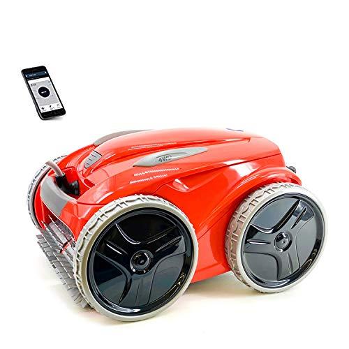 Zodiac FR 5480iQ 4WD Red Robot pulitore Fondo Piscina (Pavimento, Parete, Linea di galleggiamento) Tecnologia Vortex, Controllo remoto App MOVIL, Rosso