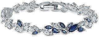 SWAROVSKI Women's Louison Bracelet, Blue, Rhodium plated, Medium
