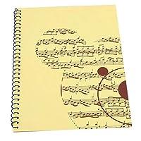 空白のノート、楽譜譜面用紙、音楽ノート、楽譜(Yellow bear pattern)