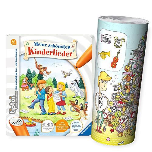 tiptoi Ravensburger Kinder-Buch 4-7 | Meine schönsten Kinderlieder + Musik Instrumente...