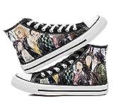 JPTYJ Demon Slayer: Kimetsu no Yaiba Kamado Tanjirou/Nezuko Zapatos Unisex Zapatos de Lona Ocio Unisex Anime Zapatos Transpirables A-37