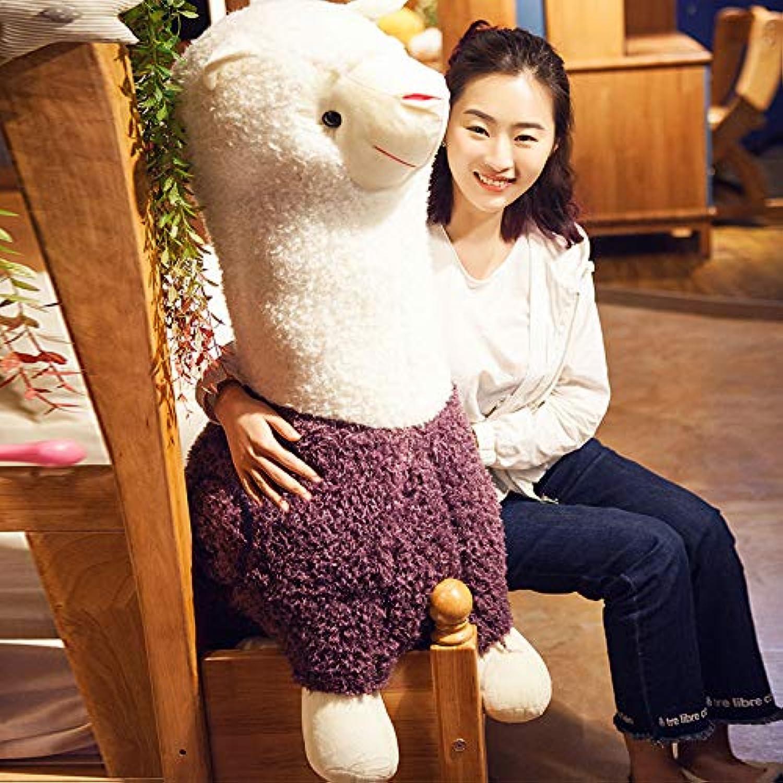 BAONZEN Liebe Tier Tier Einhorn Puppe Puppe Puppe Alpaka Plüschtier Schlafkissen lustig, lila, 50cm