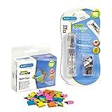 Rapesco supaclip - Dispensador de supaclips mas caja de 150 clips multicolores, hasta 40 hojas