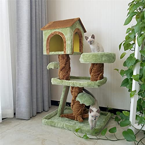 YLHXYPP Gatos Árbol Gatos Escalada Marco Gatos Gatos Gatos Arbustos Árbol Uno Tongtianzhu Escalada Marco Casa Suministros Para Mascotas