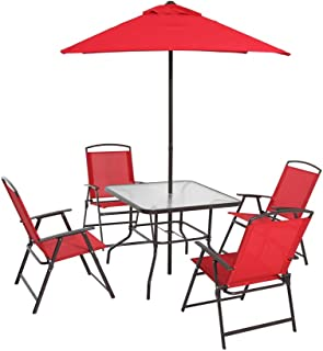 Mainstays Albany Lane 6 Piece Folding Seating Set: Red