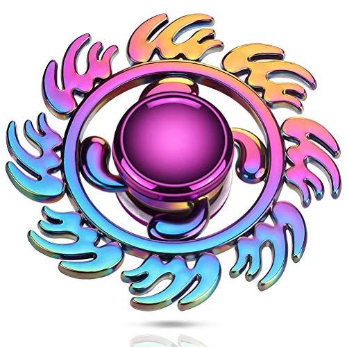 XOYZUU Fidget Spinner de mano, hilanderos de dedos para niños y adultos – Cool Magic Finger Toys Fidgets Cube Blocks Sensory Toys Ansiedad TDAH Alivio del estrés, ADD TDAH EDC Anti Ansiedad Regalo
