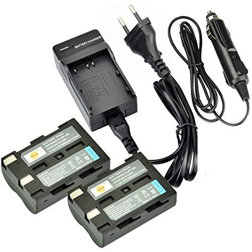 DSTE®(2 Pack)Ersatz Batterie und DC11E Reise Ladegerät Compatible für Pentax D-Li50 K10D K10D GP K10D Grand Prix K20D Konica Minolta NP-400 a Sweet DIGITAL a-5 Digital a-7 Dimage A1 A2 Dynax 5D Dynax