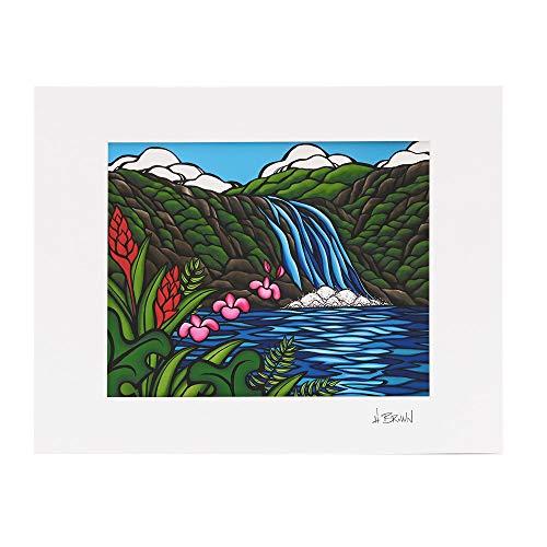 [ヘザーブラウン] HEATHER BROWN 絵画 アートプリント ART PRINT WAIMEA FALLS ワイメアフォールズ HB9382P Mサイズ W35.6×H28.0cm