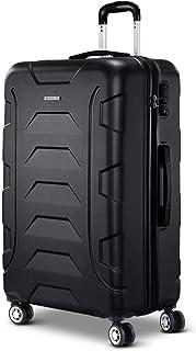 Wanderlite 77cm Luggage 4 Wheel Hard Shell Travel Suitcase, Black