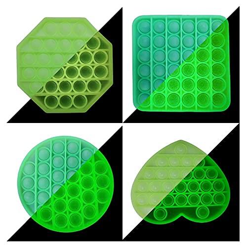 4 Pack Sensorial Fidget Juguete Push Pop Bubble Sensory Toy Arco Iris Bubble Sentidos Figit Toy Autismo Necesidades Especiales Aliviador Antiestrés del Juguetes Educativos Lámpara Fluorescente