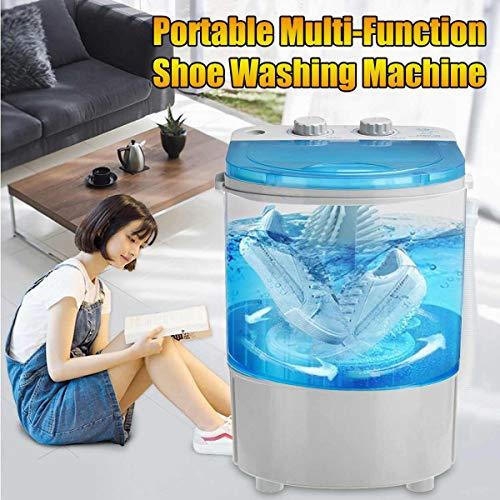 BXWQPP Halbautomatische Elektrische Haushalts-Schuhwaschmaschine Schuhbürstmaschine Kleine Schuhputzmaschine Schuhsohlenreinigung und Waschmaschine Reisewaschmaschine Miniwaschmaschine