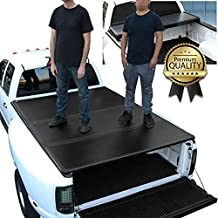 DNA Motoring TTC-HARD-019 Truck Bed Top Hard Solid Tri-Fold Tonneau Cover Compatible with 09-18 Ram 1500 10-18 2500 3500 6.5Ft Fleetside Short Bed